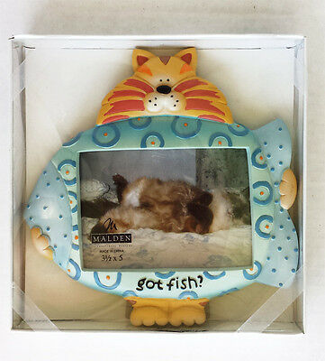 CAT Photo Frame 'Got Fish?' by Malden New