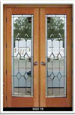 1 - Double Set Heritage Leaded glass interior Doors & Frame