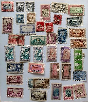 Collection of pre 1950 used African and Middle Eastern stamps