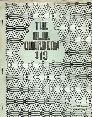 """The Blue Guardian #13.  R rated """"Doctor Who"""" US fanzine"""