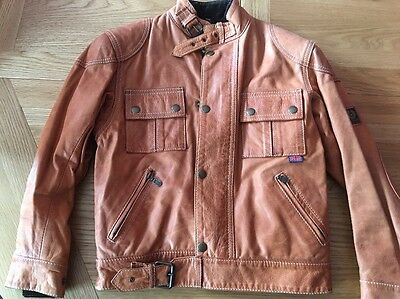 Belstaff Cougar Blousen Junior Size Age 8 Tan Leather Jacket Bnwt Kids