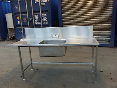 Stainless Steel Dishwasher Sink Commercial Catering Kitchen Sink