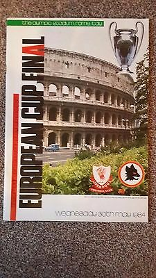 1984 EUROPEAN CUP FINAL LIVERPOOL vs ROMA OFFICIAL PROGRAMME