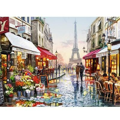Paris Street Paint By Number Digital Oil Painting Picture Print On Canvas #A