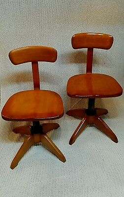 Pair Knoll Design Architect chairs top restored no plaque