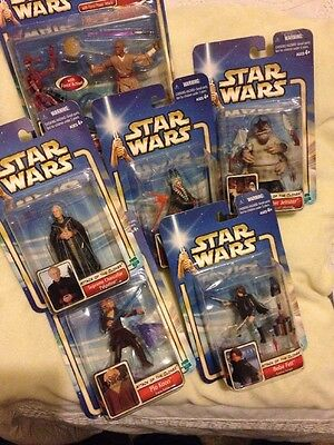 Star Wars Attack Of The Clones Vintage Figures Job Lot