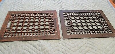 """2""--Antique Vintage Cast Iron Floor Register Grates"