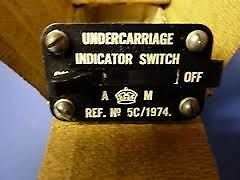 Spitfire/Lancaster Air Ministry Undercarriage Indicator Switch
