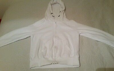 Girls NEXT white cotton hoodie fit age 10-12