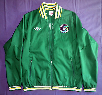 New York Cosmos authentic Umbro green anthem jacket BNWT NYC Cantona Pele SIZE L