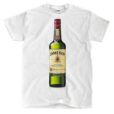 Jameson Whiskey Bottle White T-Shirt - Ships Fast! High Quality!