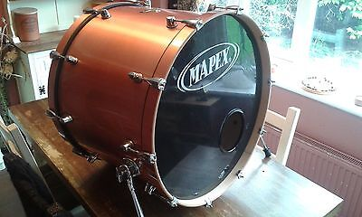 """Mapex Pro M Series 24"""" X 17"""" Undrilled Bass Drum With Copper Wrap. Maple"""