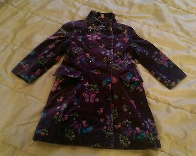 Lovely condition butterfly by matthew williamson purple velvet coat 3years