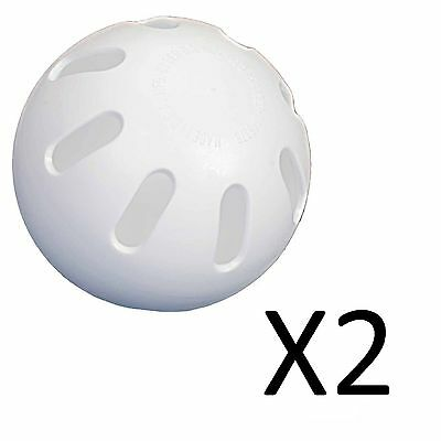 Unique Hot Glove Official Whiffle Ball Plastic Baseball Indoor Outdoor (2-Pack)
