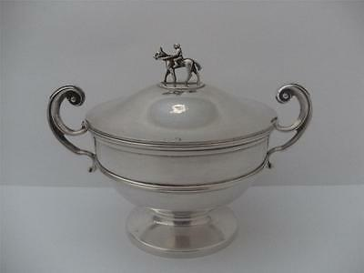 SUPERB SOLID SILVER TROPHY CUP Sheffield 1964 Horse Theme