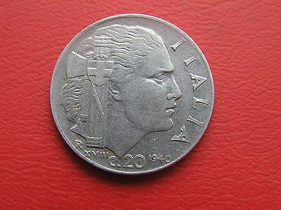 Italy 1940 20 cent coin (ref 689)