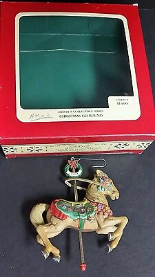Heirloom Collection by Carlton Christmas GO-AROUND CAROUSEL HORSE Ornament  1991