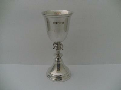 STERLING SILVER KIDDUSH CUP,KIDDISH CUP GOBLET Sheffield 1964 Walker & Hall