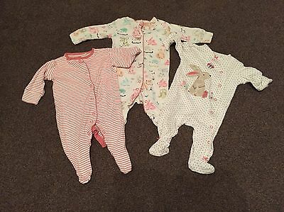 Set Of 3 Next Baby Girl Baby Grows. 0-3 Months