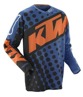 New Fox 360 Ktm Jersey Blue Mx Off-Road Size Med $59.95 Now $24.99 06403-592-M