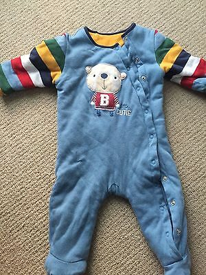 """Cosy Sleep Suit from """"Little Cute"""" Mothercare 6 - 9 MONTHS"""