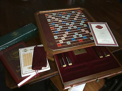 Franklin Mint Collector's Edition Wooden SCRABBLE Game - New
