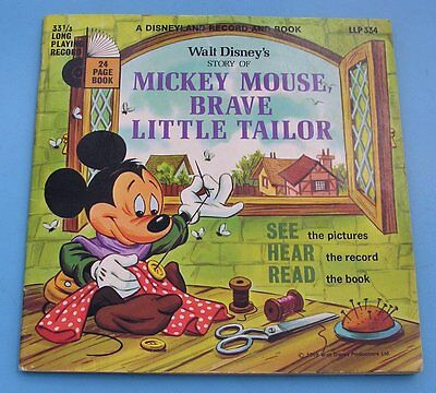 "Walt Disney's Story Of Mickey  Mouse Brave Little Tailor  Lp  7"" Record."