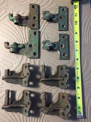 8 Antique  Cast Iron Shutter Hinge Parts Architectural Vintage