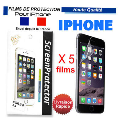 Film protection d'écran en plastique x 5 Iphone X iPhone 6/6S 7/8 PLUS iPhone 8