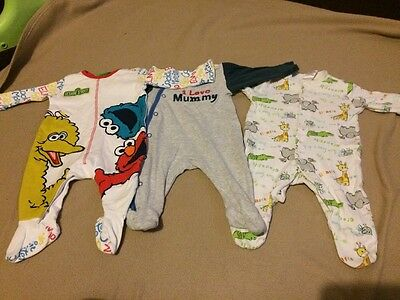 3 Baby Boys Baby Grows Up To 1 Month 10lb