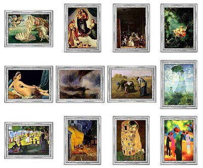 """CONGO 2007- 09 -10 F."""" Masterpieces of Painting of the World"""" Mintage 1000 PCS"""