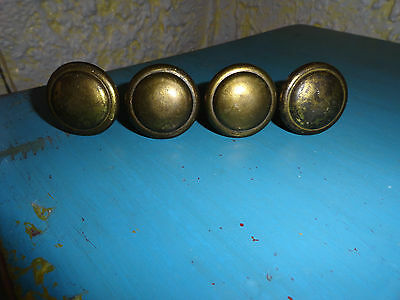 4 Vtg Allison Japan Bronze Knobs Pull Dresser Cabinet Furniture Restore Hardware