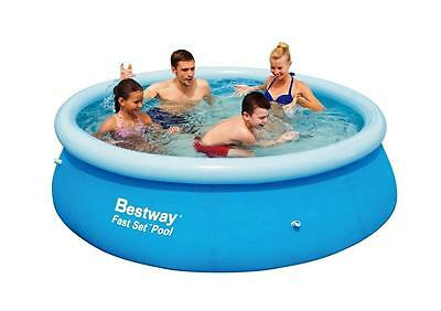 NEW Bestway Inflatable Family 8 Foot Fast Set Pool (244*66cm) #57008