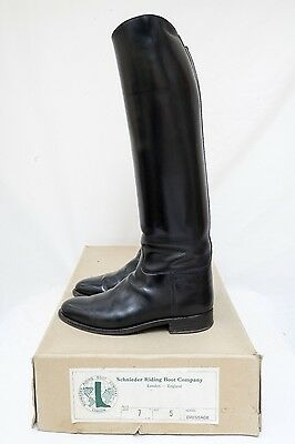 Schnieder Black Leather Riding / Dressage / Showing Boots Size 7