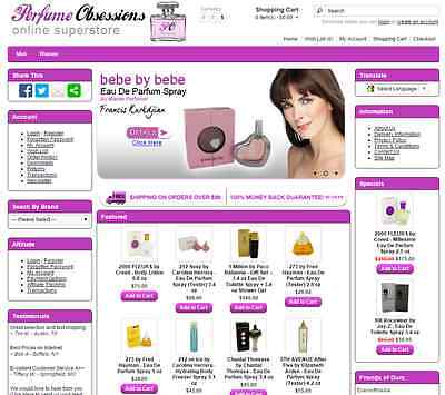 Perfume products turnkey drop ship website - Established Domain & Website