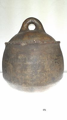 19th c. Berber Water Vessel with handle, Sub-Saharan Morocco, 10in. H x 8.5in. D