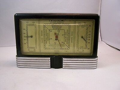 Vintage Weather Station w/ Temp, Humidity Gauges Beautiful