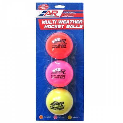 A&R Multi-Weather Hockey Balls - 3 Pack