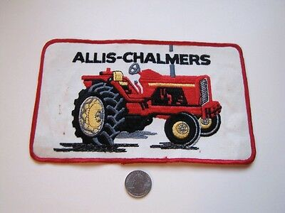 Vintage ALLIS CHALMERS Extra Large Embroidered Patch Farm Farming Tractor