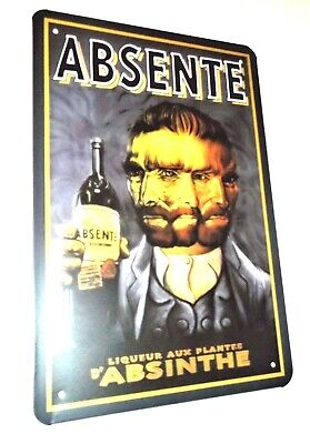 ABSINTHE METAL TIN SIGNS vintage cafe pub bar garage decor retro kitchen