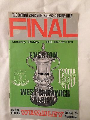 1968 FA Cup Final Programme Everton v West Bromich Albion