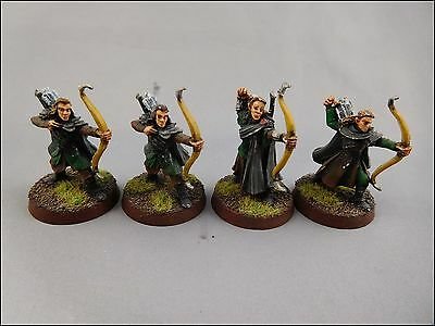 Wood Elf Sentinels – Metal [x4] Free People [The Lord of the Rings ] Painted