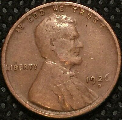 1926-D Lincoln Wheat Cent 1c RARE COIN combined shipping
