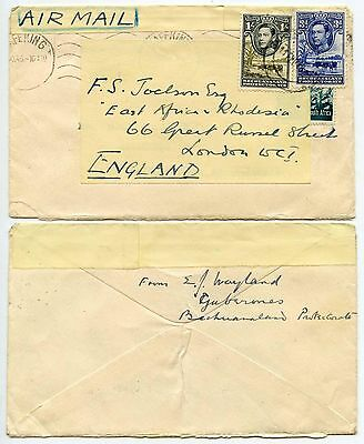 BECHUANALAND 1945-46 AIRMAIL REUSED on SOUTH AFRICA MAFEKING...GABERONES