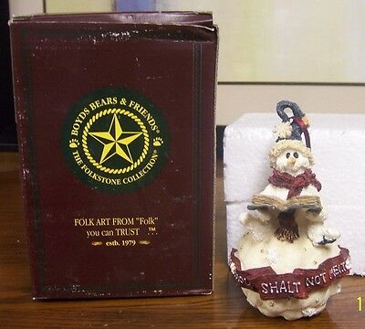 Boyds Bears Thou Shall Not Melt Ornament Folkstone Collection (408)