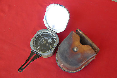 Vintage DW BRUNTONS Pocket Transit Geological Compass Tool Wm Ainsworth & Sons