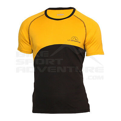 -- La Sportiva T-Shirt Swing Event Tee, Yellow/Grey (A07)