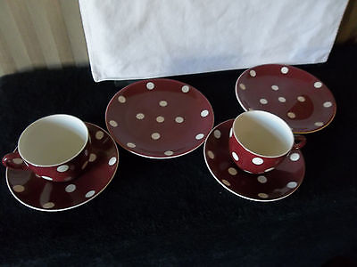 Vintage Empire England Two cups, saucers and plates