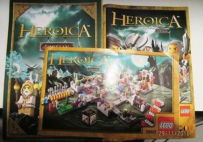 Lego Heroica Fortaan 3860 - All three manuals used but good condition .