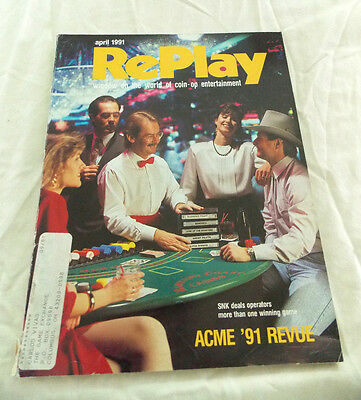 April 1991 Replay Magazine, Window On The World Of Coin-Op Entertainment